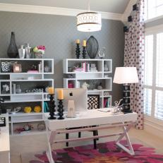 feminine home office. Fabulously Feminine Home Office With Pops Of Pink
