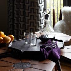 Accent Table With Etched Tabletop
