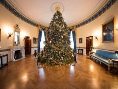 Official White House Christmas Tree in the Blue Room