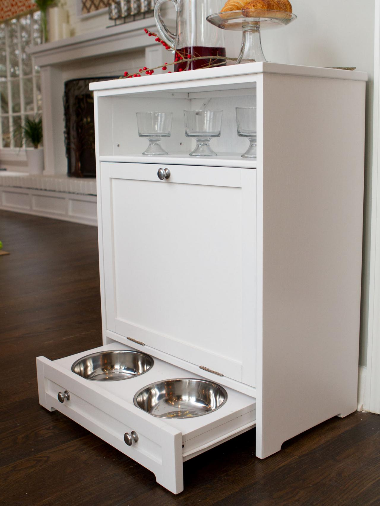 organizing furniture storage solutions toy dog for captivating and pet cabinet feeders food feeder
