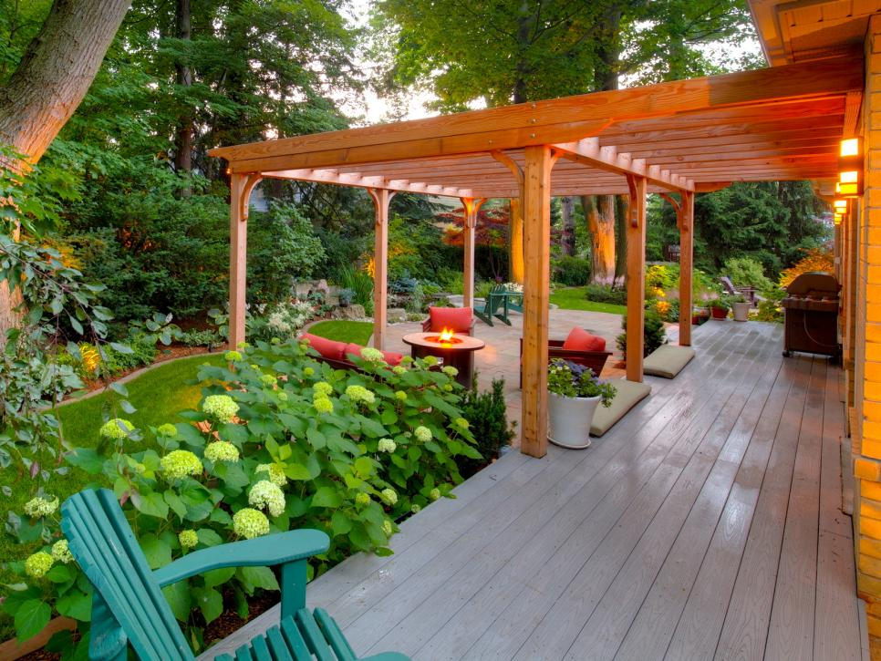 Backyard With Pergola 20 outdoor structures that bring the indoors out | hgtv