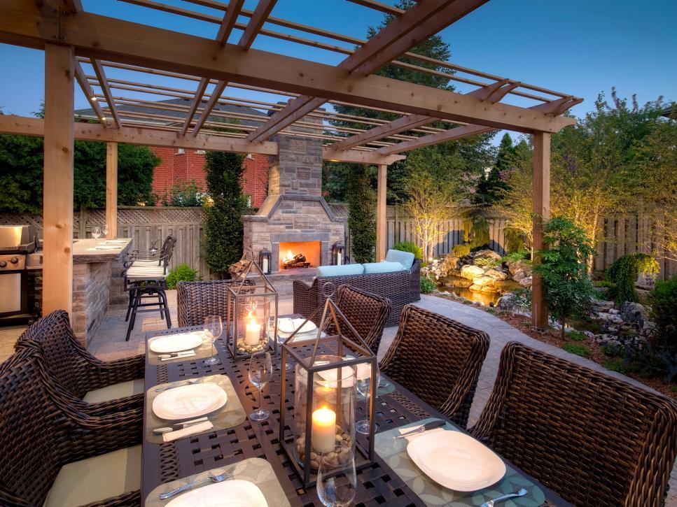 38 Backyard Pergola and Gazebo Design Ideas | DIY on Hgtv Backyard Designs id=83713