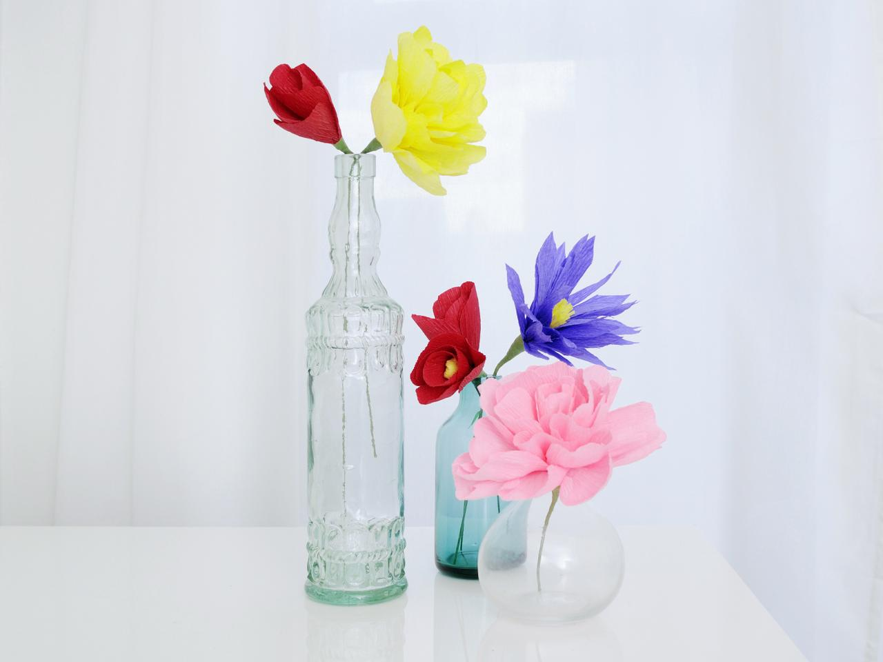 How To Make Flowers Using Crepe Paper Hgtv