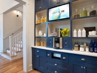 Blue Kitchen Cabinet Buffet Storage