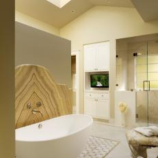 Master Bath With Honey Onyx Accents