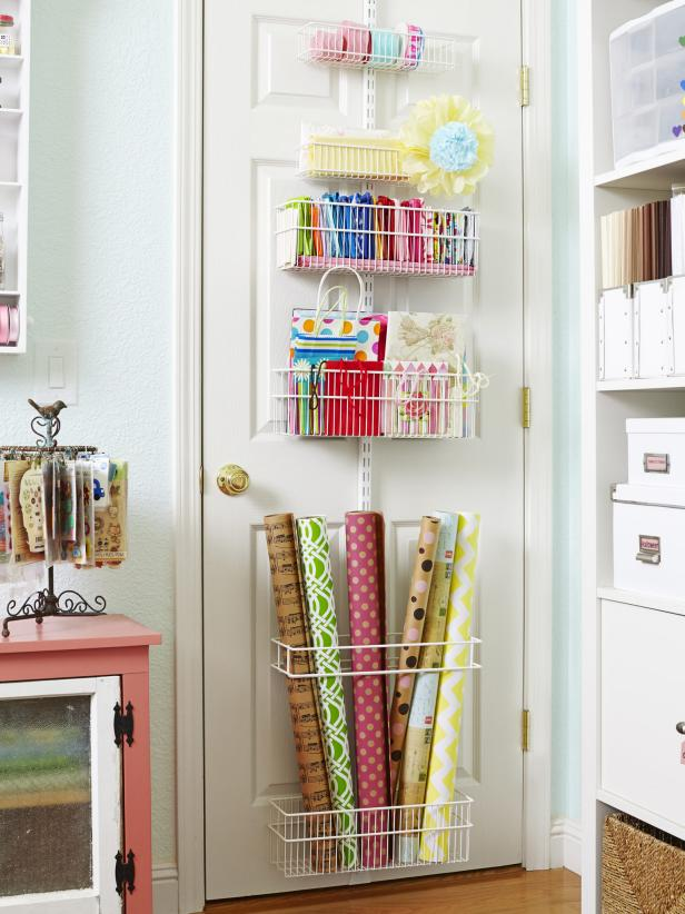Gift Wrapping Over-the-Door Organizer