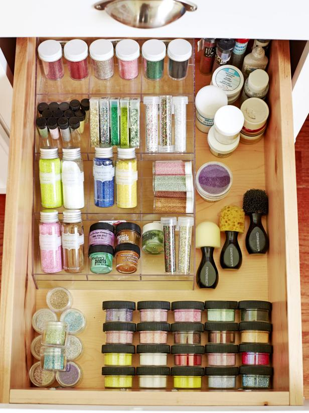 Glitter Storage in Drawer