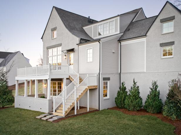 Gray and White Home Exterior