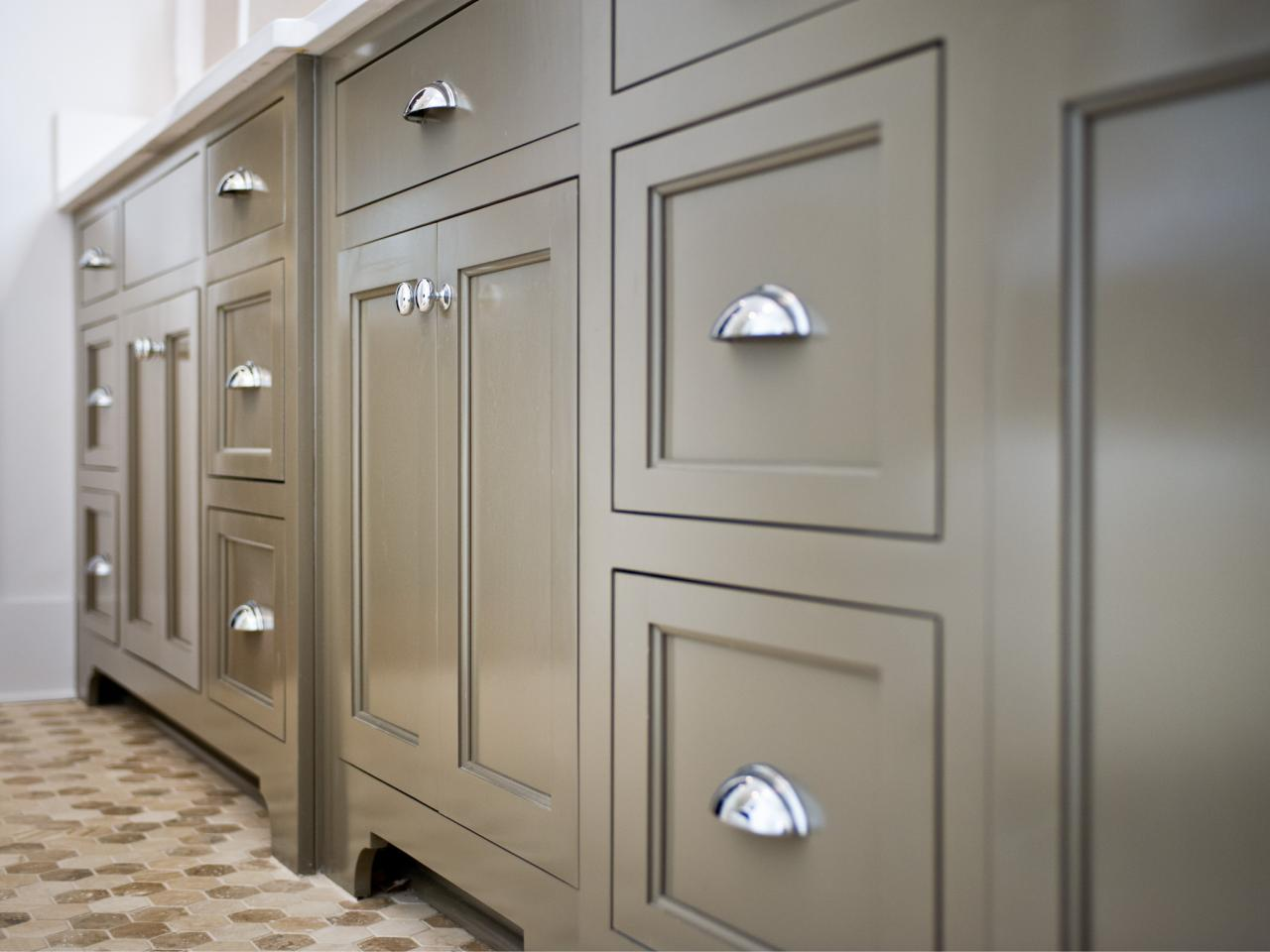 Warm Paint Colors For Kitchens Pictures Ideas From Hgtv: Contemporary Gray Vanity Cabinets In Master Bathroom