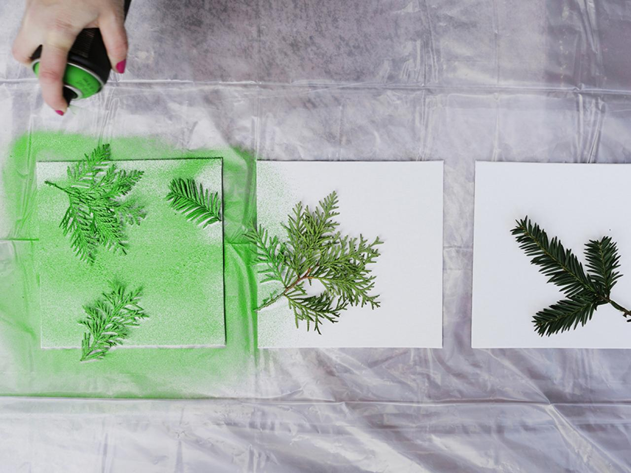 Spray Paint Canvases & Turn Leaves and Foliage Into DIY Canvas Wall Art | HGTV