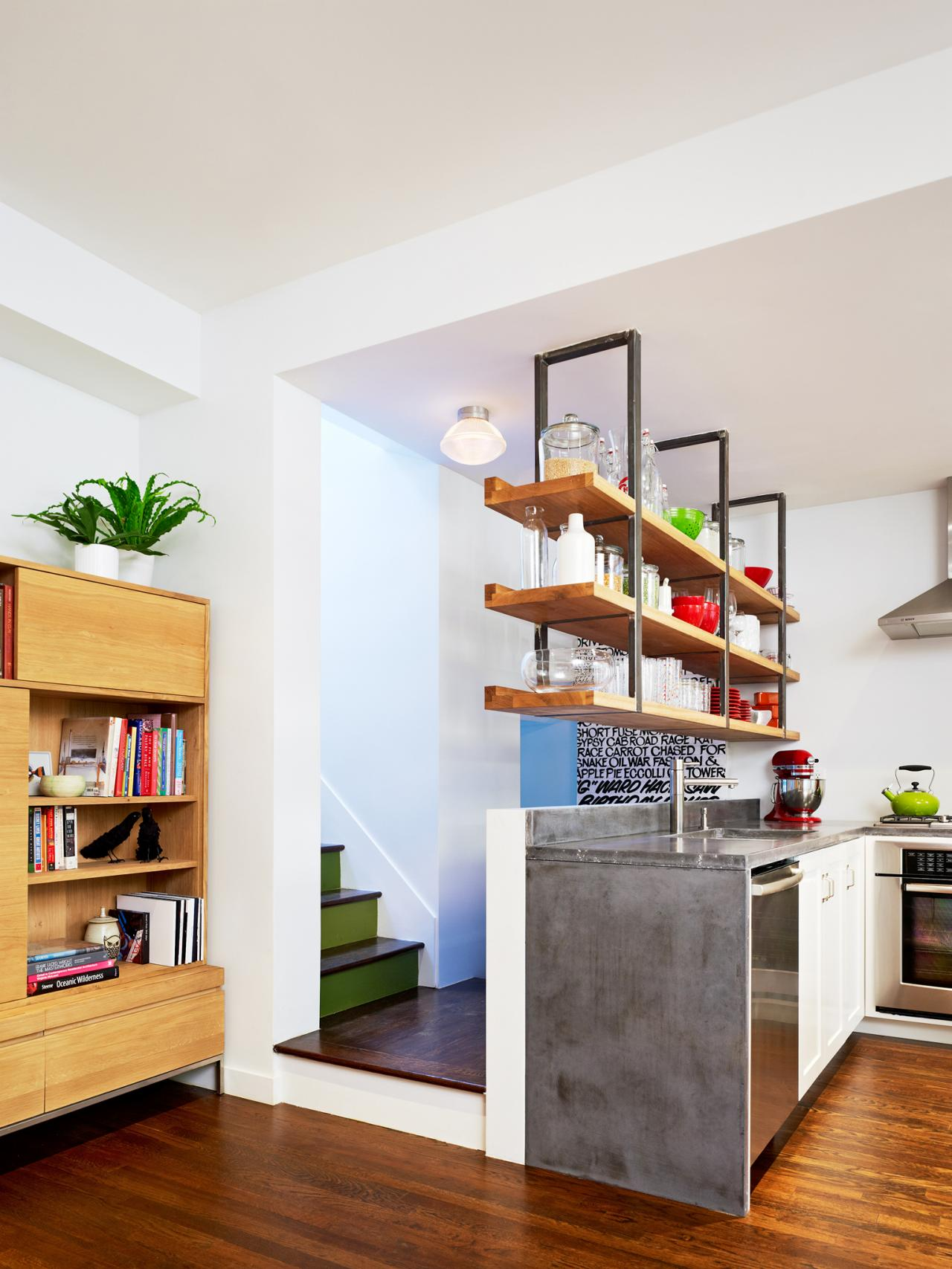 The benefits of open shelving in the kitchen hgtv 39 s Open shelving