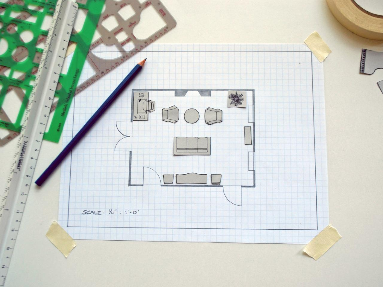 How to create a floor plan and furniture layout hgtv for Furniture templates for room design