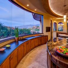 Modern Kitchen with Outstanding Views