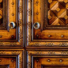Carved Bathroom Cabinets