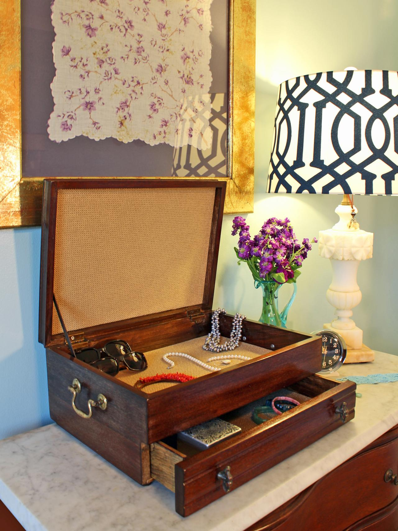 Upcycle An Old Cutlery Box Into A New Jewelry Box Hgtv