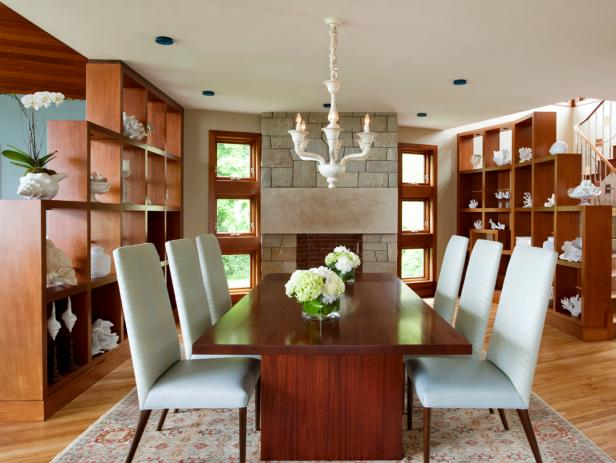 Neutral Open-Plan Dining Room