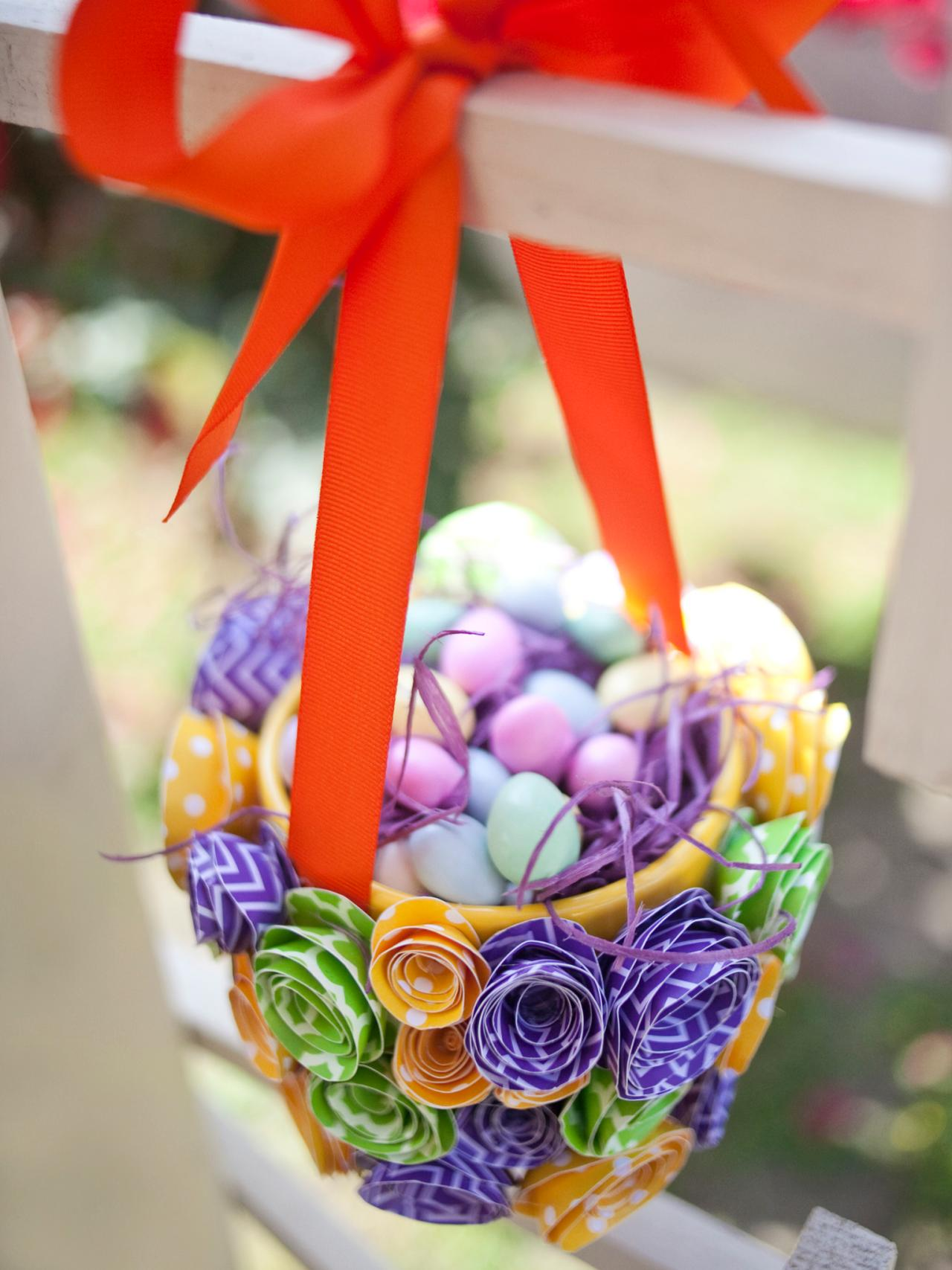 How To Make A Paper Flower Easter Basket Hgtv