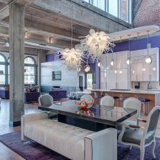 light purple accent wall purple paint room open loft with purple accent wall photos hgtv