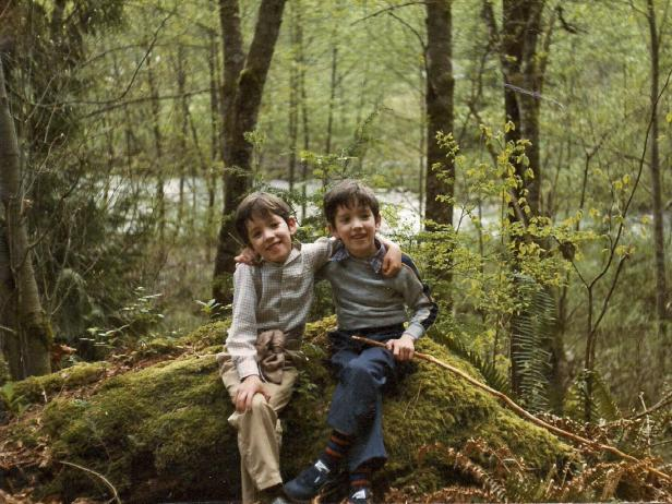 Property Brothers in the Woods as Kids