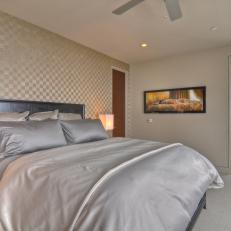 Contemporary Bedroom With Pearlescent Accents