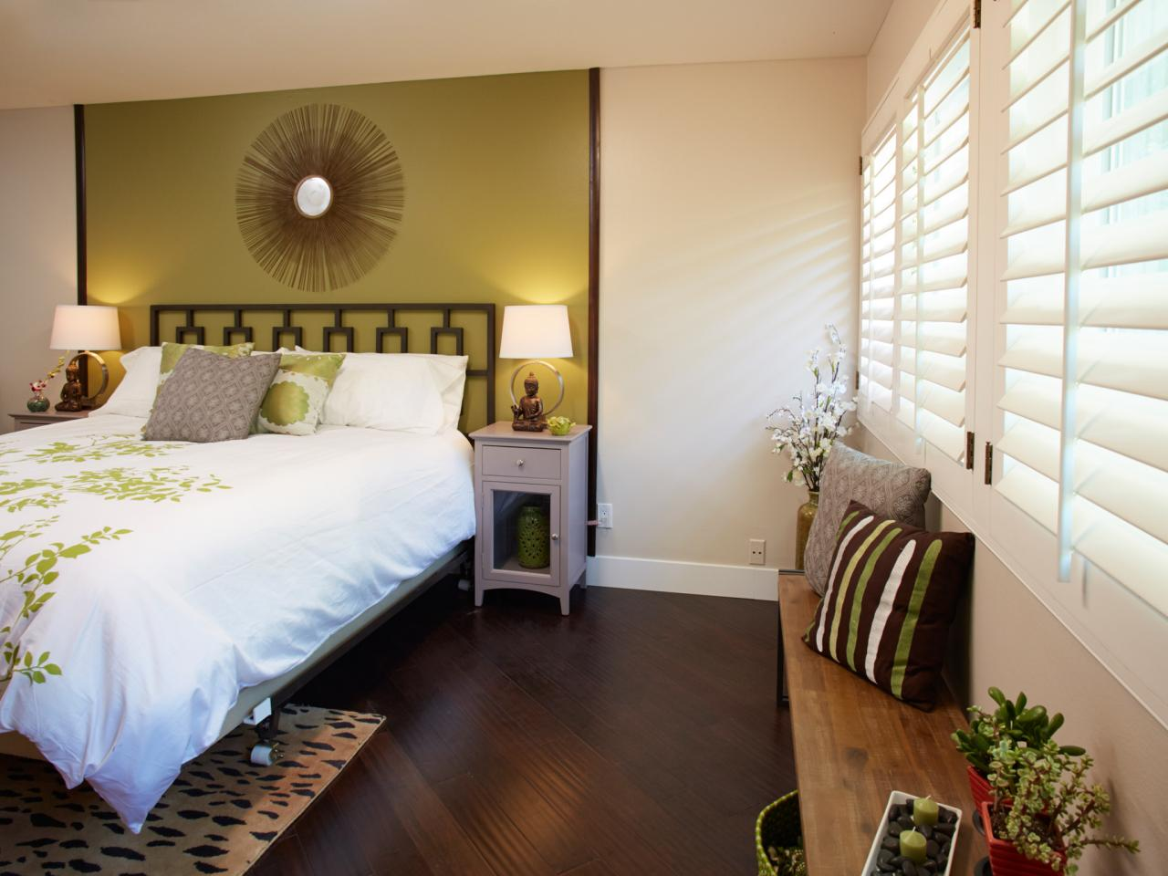 Green And Brown Master Bedroom Makeover