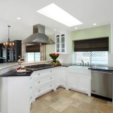 Traditional White Kitchen with Viking Appliances