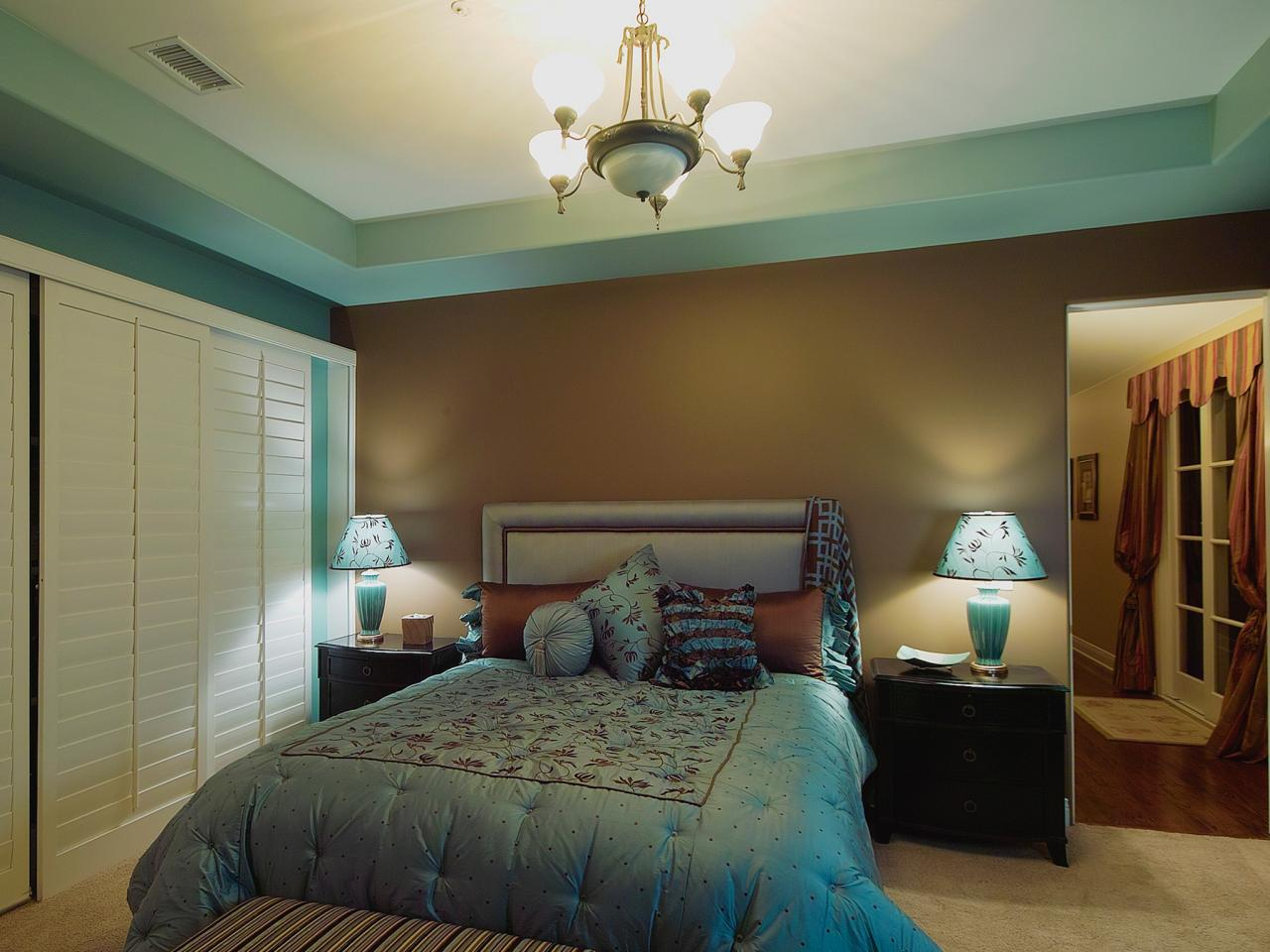 bedroom color palette ideas transitional bedroom has classic blue and brown color 14223