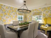 Whimsical Yellow Dining Room