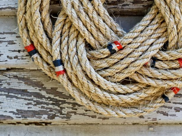 Nautical Rope Wreath Detail