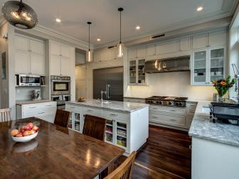 White Transitional Kitchen With Ample Storage