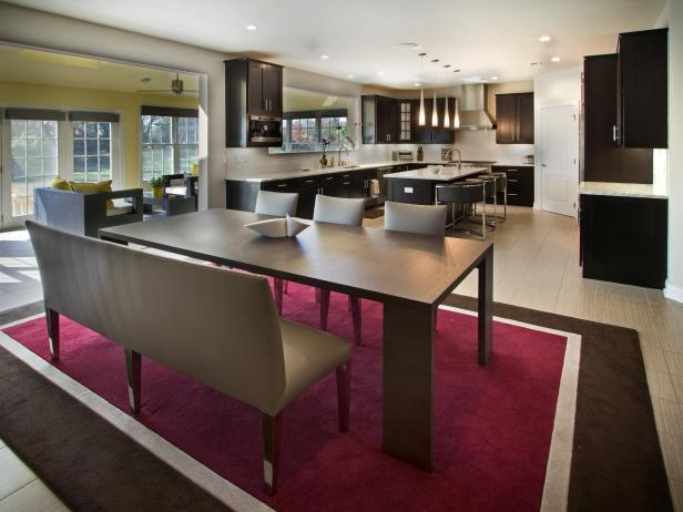 Contemporary Kitchen With Sleek Ebony Cabinets