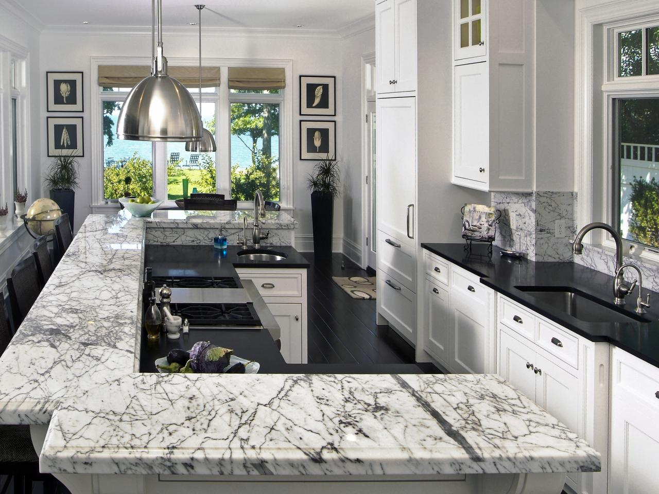 Granite countertop prices pictures ideas from hgtv hgtv Kitchen platform granite design