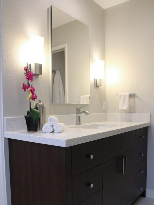 Dark Brown Bathroom Wall Cabinet