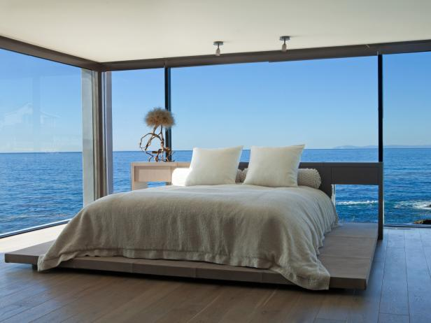 Modern Bedroom With Ocean View