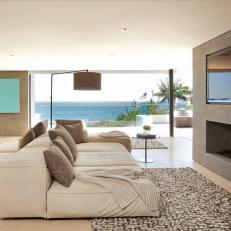 Modern Living Room With Large Neutral Sofas