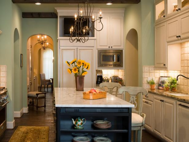 Robin S Egg Blue Kitchen Makeover Bonnie Pressley Hgtv