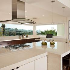 Contemporary Kitchen with Amazing View