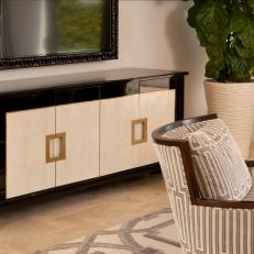 Contemporary Entertainment Console in Neutral Living Room