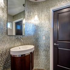 Contemporary Bathroom With Floor To Ceiling Gl Tile