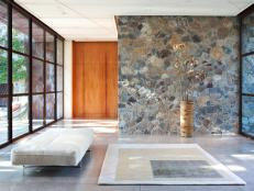 Native Stone Creates Lovely, Natural Foyer