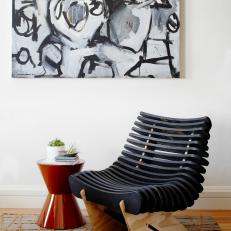 Mod Art, Chair Form Chic Reading Nook