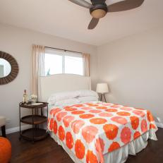 Flipping the Block Orange and White Master Bedroom