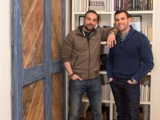 HGTV Cousins Undercover Hosts Anthony Carrino and John Colenari in Living Room