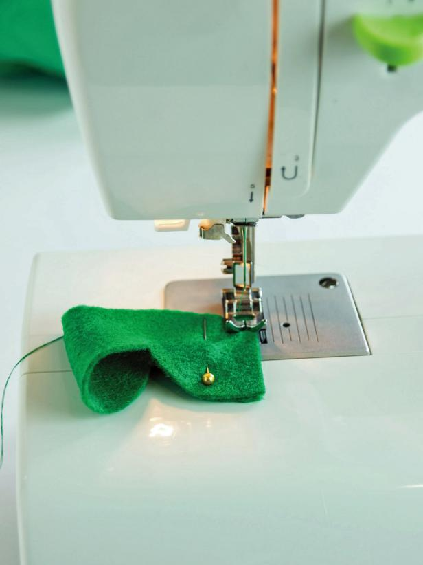 Sew the ends of the eye socket together creating a loop.
