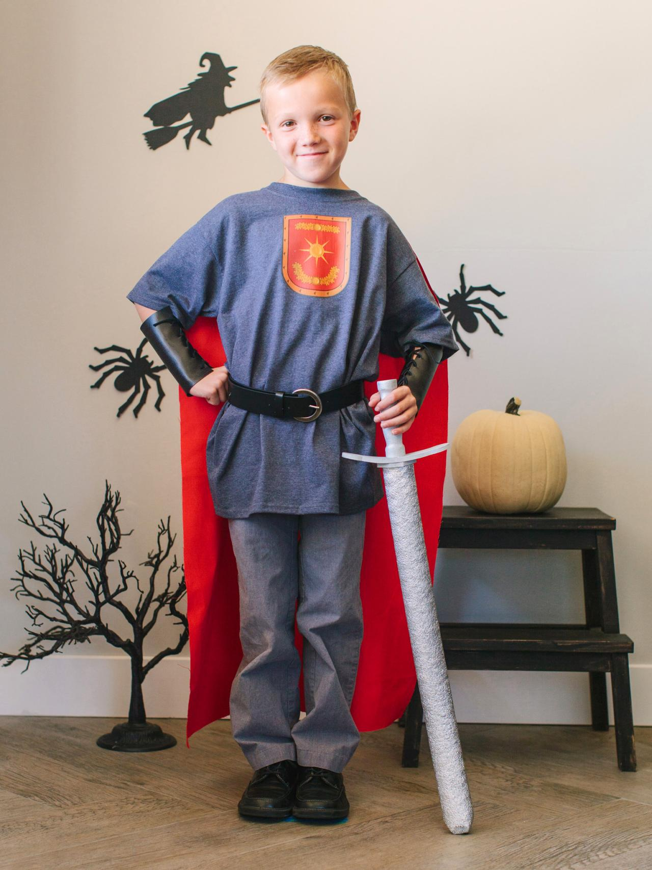kid's halloween costume: brave knight | hgtv