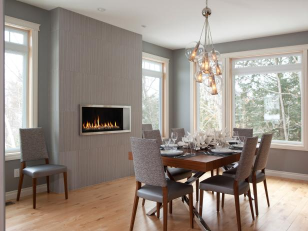 Gray Modern Dining Room