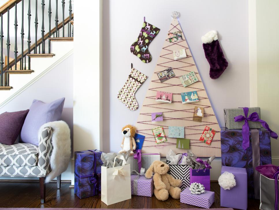 Christmas Tree Alternative.Make An Alternative Christmas Tree That Displays Cards Hgtv