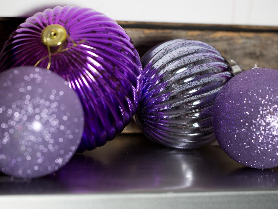 Large Orb Ornaments in Purple