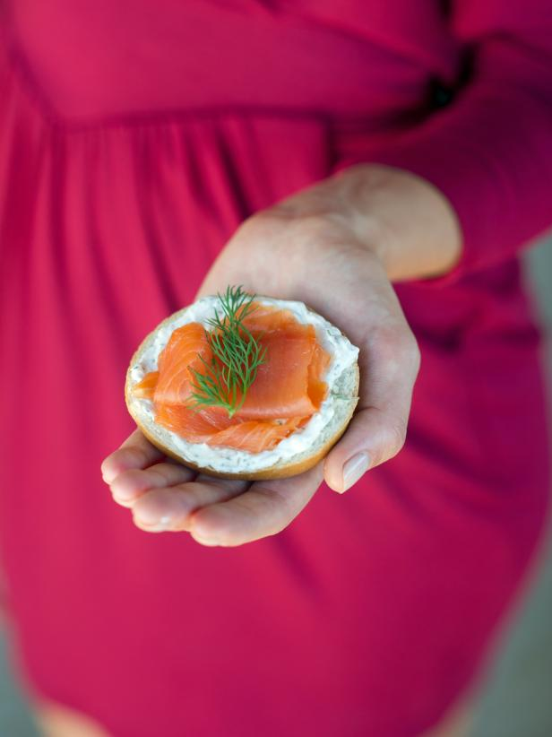 Mini Bagels With Cream Cheese and Lox