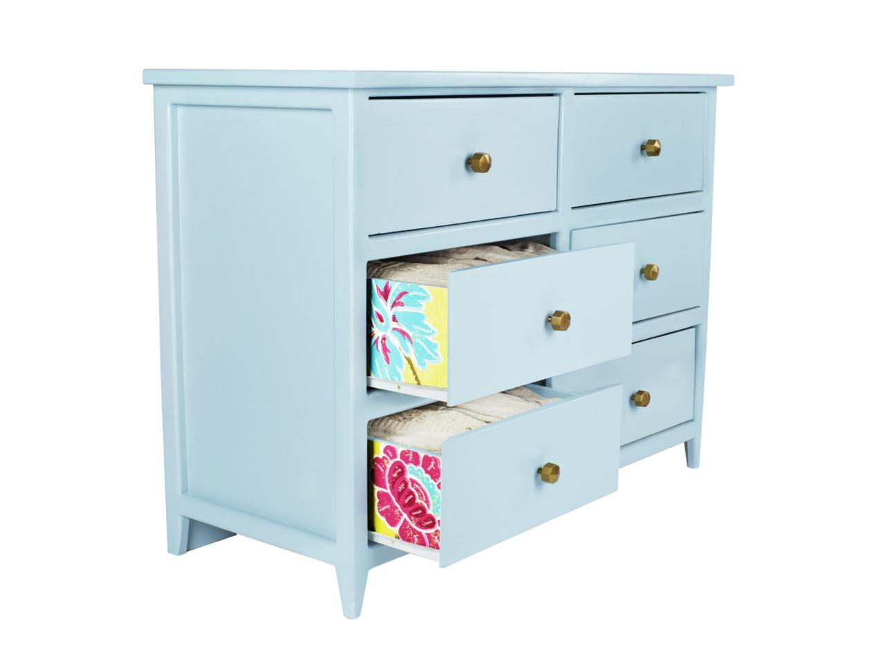 How To Wallpaper Interior Dresser Drawers Hgtv